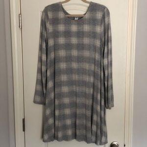Old Navy long sleeve gray dress